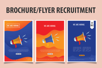Brochure or Flyer for Recruitment. Job Vacancy Advertisement Concept