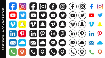 social and contact icons