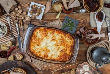 Italian home lasagna