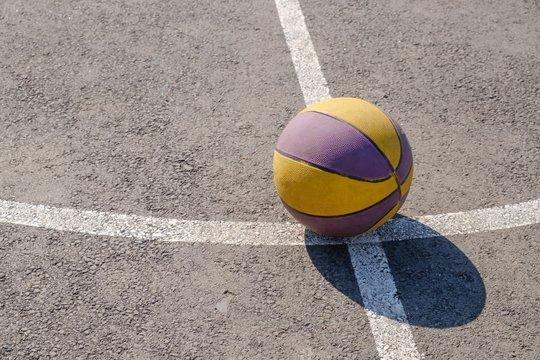 Street basketball basket court ball,  competition.