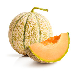 Wall Mural - Ripe melon isolated on white