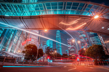 Fototapete - Urban scenes of cityscape in Hong Kong, China