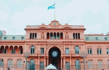 Facade of Casa Rosada, in the city center of Buenos Aires