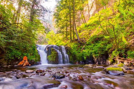 Upper Multnomah Falls in the Columbia River Gorge