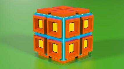 Colorful 3D cube