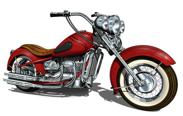 Classic vintage motorcycle. Wall mural