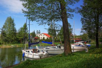 Fototapete -  Mazury,Ruciane Nida,rzeka Nidk
