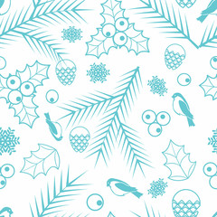 Seamless Merry Christmas and Happy New Year background vector image 31