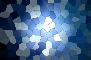 Blue mosaic patern background