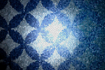 Blue mosaic patern background