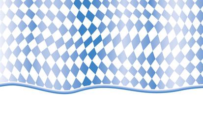 bewegtes Rautenmuster in blau weiß mit Welle unten ausgerichtet