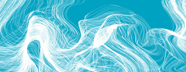 Tangled lines vector background