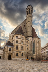 Wall Mural - view of Minoritenkirche, Vienna, Austria