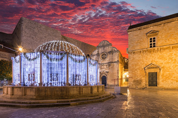 Wall Mural - Onofrio's fountain in Dubrovnik. Croatia.