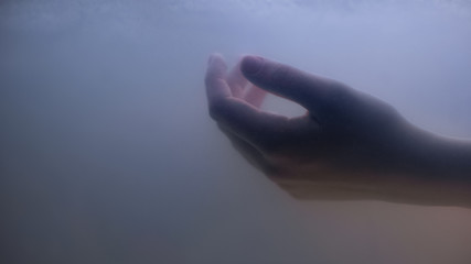 Female hand under dark water, drowned victim of suicide crime, life problem Fototapete
