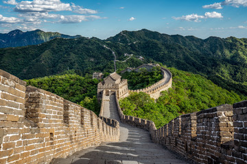 Foto op Canvas Chinese Muur Great Wall - Chinesische Mauer