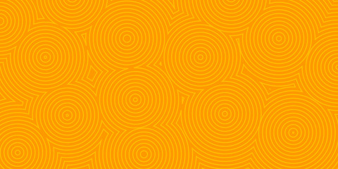 Abstract background of concentric circles in orange colors