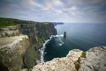 Wall Mural - Amazing cliffs of Moher at dusk, Co. Clare, Ireland
