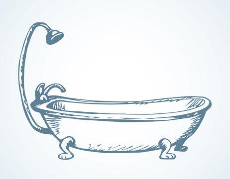Bath. Vector drawing icon sign