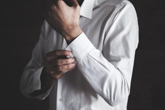 man hand shirt