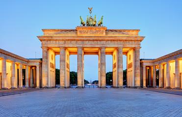 Aluminium Prints Berlin Germany capital city - Berlin, Brandenburg Gate at night