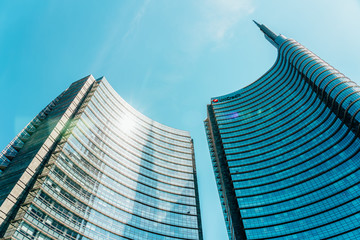 MILAN, ITALY - MAY 31, 2019: UniCredit Building In Porta Nuova Or New Door, The Main Business District In Milan