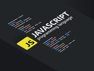 Javascript the popular programming language coding software technology vector illustration