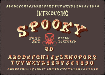 """Vintage Hand Drawn Typeface """"Spooky""""."""