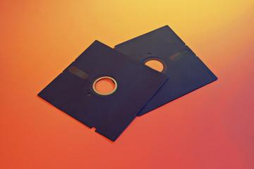 5.25 retro floppy disks. A nostalgic portable backup accessory