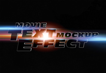 Movie Trailer Style Text Effect Mockup