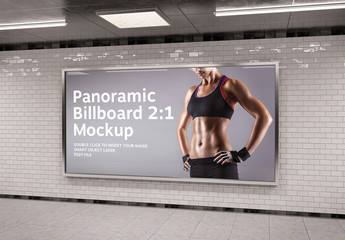 2:1 Aspect Ratio Panoramic Frame in Underground Mockup