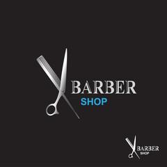 Scissors icon. barber shop logo .modern design. vector illustration.flat logo