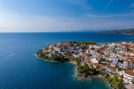Hafenstadt  Neos Marmaras auf der Halbinsel Chalkidiki, Griechenland