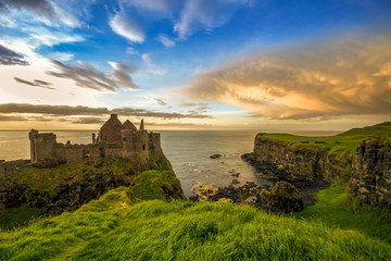 Dunluce Castle Antrim Coast Irish landmark Northern Ireland summer