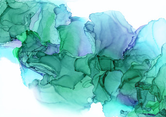 Alcohol Ink Painting Wall mural
