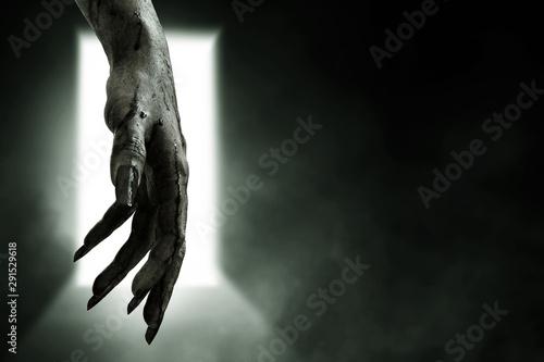 Bloody zombie hands, halooween theme