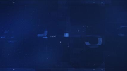 Abstract Blue Tech Design