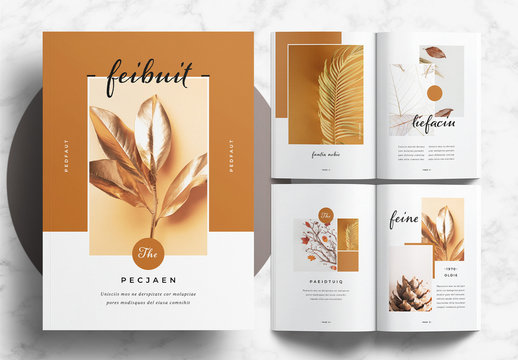 Portfolio Layout with Brown Accents