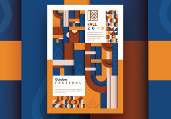 Geometric Autumn Poster Layout