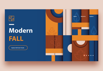 Fall Themed Website Landing Page Layout