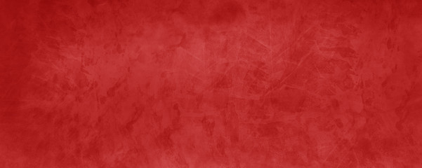 Fototapete - Red Christmas background with marbled watercolor texture in abstract vintage painted paper design that is elegant and has old grunge