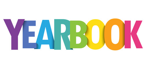 YEARBOOK colorful typography banner - Buy this stock vector and ...