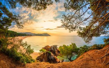Fototapete - Spain, Lloret de Mar resort. Beautiful summer landscape.
