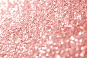 Pink glitter texture Festive sparkling sequins background closeup. Wpaper for Valentine, New Year...