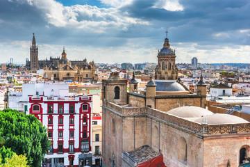 Fotomurales - Seville, Spain skyline in the Old Quarter.
