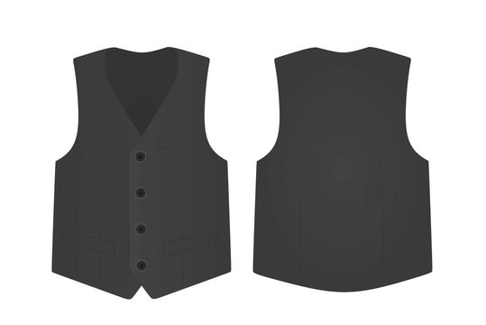 Grey  suit vest. vector illustration