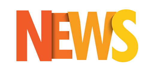 NEWS colorful orange gradient typography banner