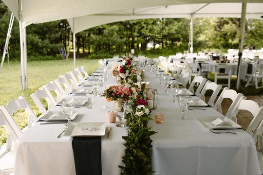 tented outdoor wedding reception