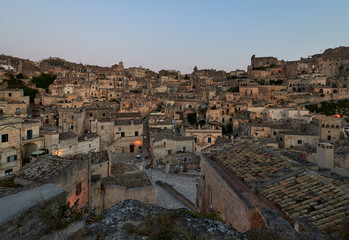 First morning light at Sassi di Matera