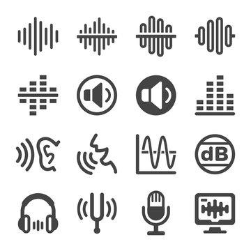 voice and sound icon set,vector and illustration
